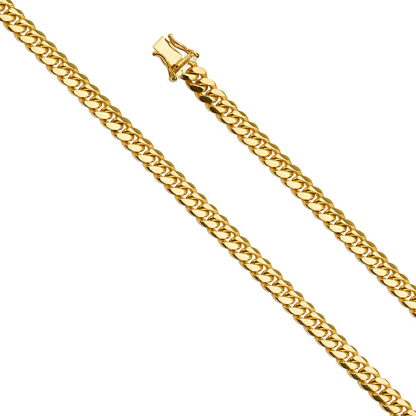 14K 5.9MM MIAMI CUBAN SOLID GOLD CHAIN