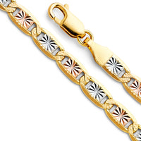 14K 4.8mm Valentino Star Chain