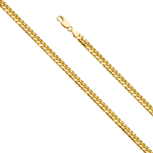 14K 5MM SOLID GOLD MIAMI CUBAN CHAIN