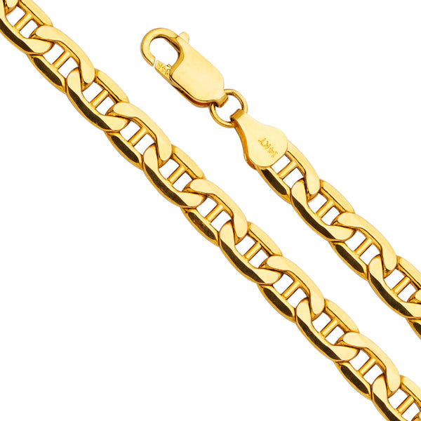 14K 6.2mm Hollow Mariner Chain