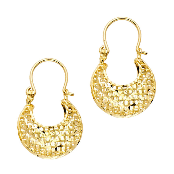 14K Gold DC Basket Earrings