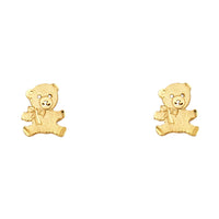 14KY Bear Post Earrings