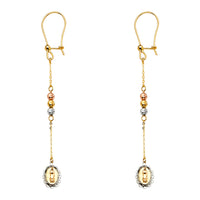 14K Our Lady of Guadalupe Hanging Earrings