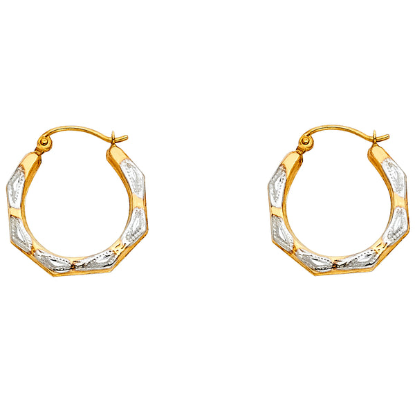 14K Hollow Hoop Earrings