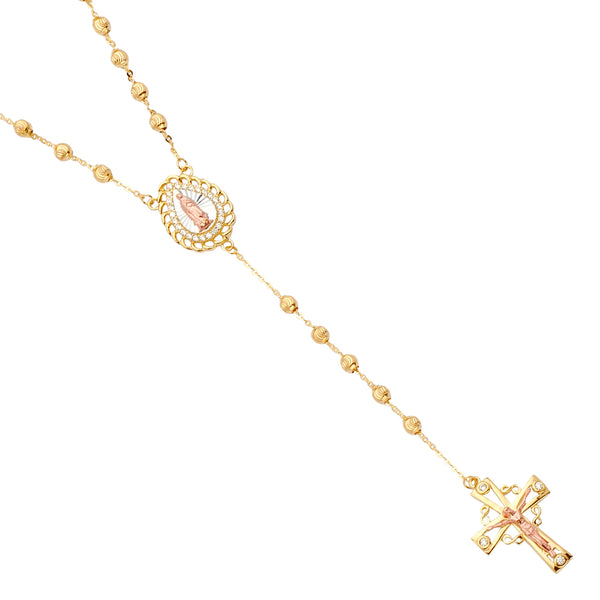 14K Rosary Necklace