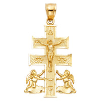 14K Cross of Caravaca Pendant