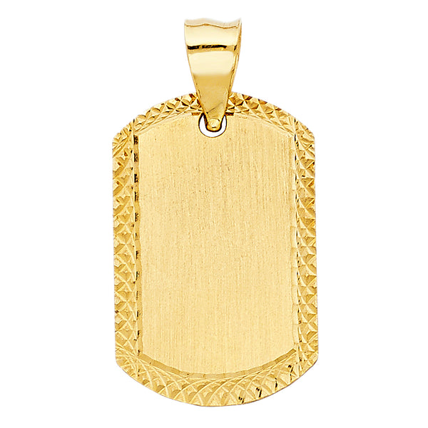 14K Plain Dog Tag