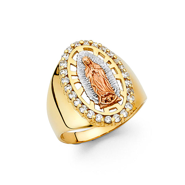 14K Our Lady of Guadalupe Men's Ring