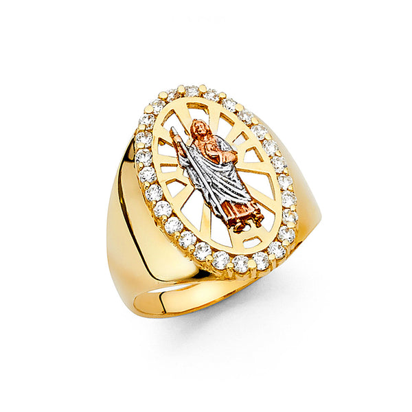 14K St. Jude San Judas Ring