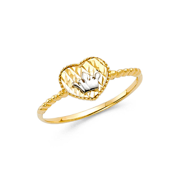 14K CZ FANCY RING