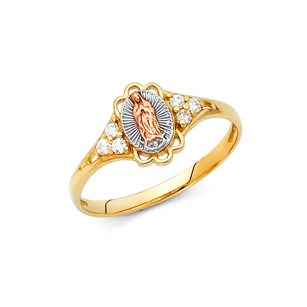 14K GUADALUPE CZ RINGS