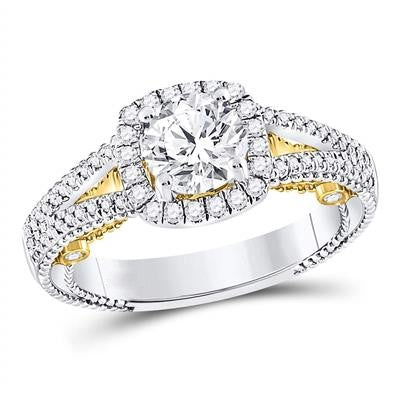 1 1/2CTW -DIA 1CRD BRIDAL RING CERTIFIED