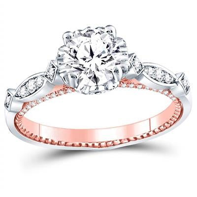 1 1/3 CTW-DIA 1CT-CRD BRIDAL RING CERTIFIED