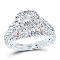 Copy of DIAMOND BRIDAL WEDDING RING SET 1 CTTW (CERTIFIED)