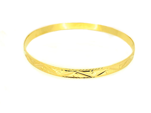 14K Bangle Solid Gold