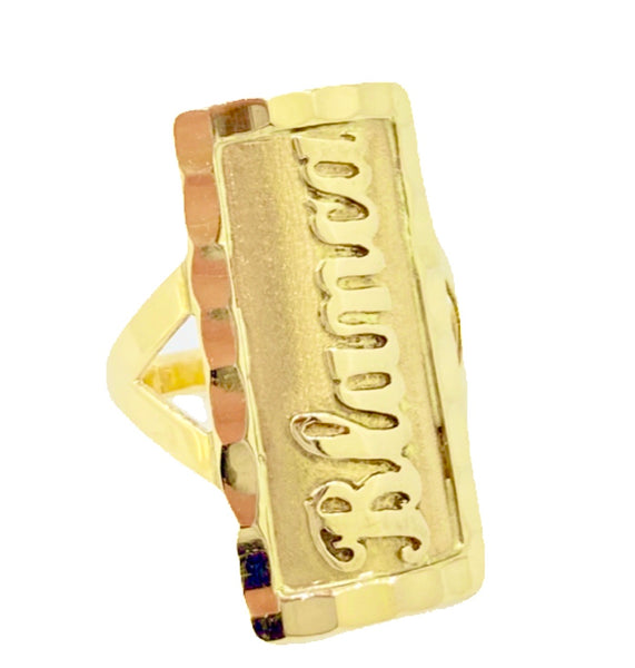 10K GOLD PERSONALIZED NAME PLATE RING