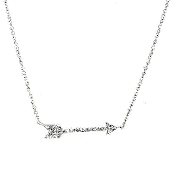 MICRO PAVE 925 STERLING SILVER NECKLACE RHODIUM PLATING WITH CUBIC ZIRCONIA