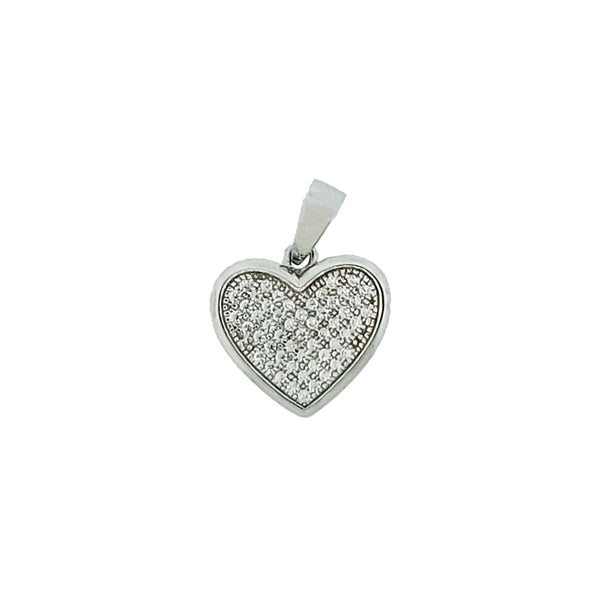 Micro Pave 925 Sterling Silver Pendant Rhodium Plating with Cubic Zirconia