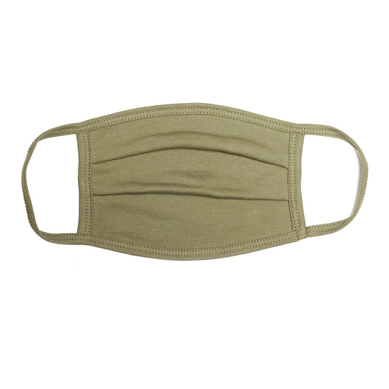 Military Green Pleated Comfort Mask