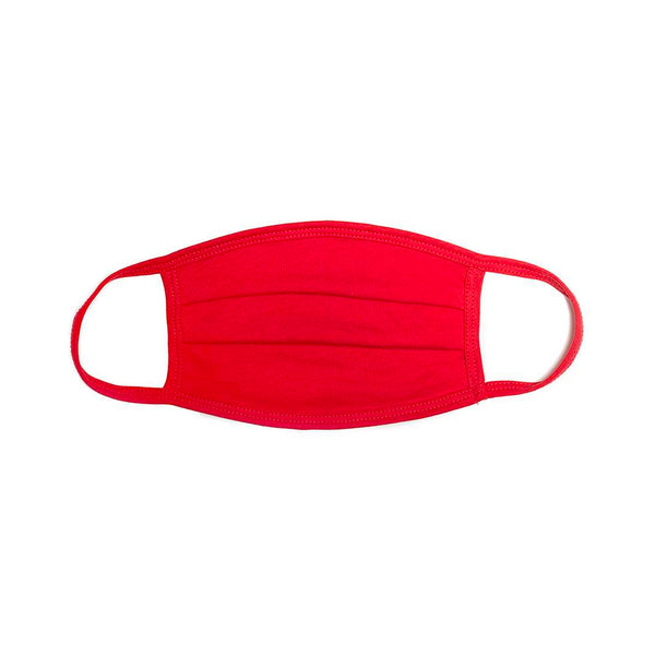 Red Pleated Comfort Mask