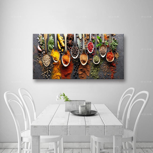 Food Painting Spices Poster