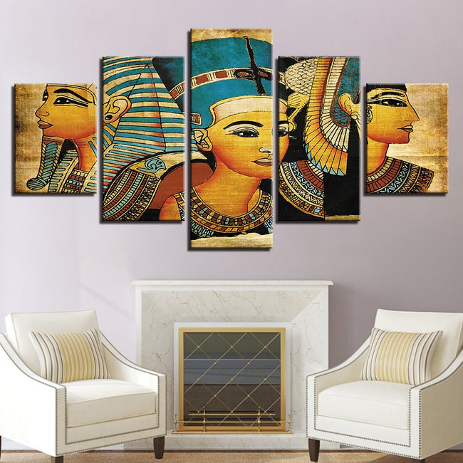 5 Panel Pharaoh Of Egypt