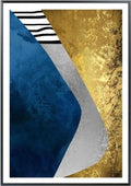 Modern Abstract Blue Gold