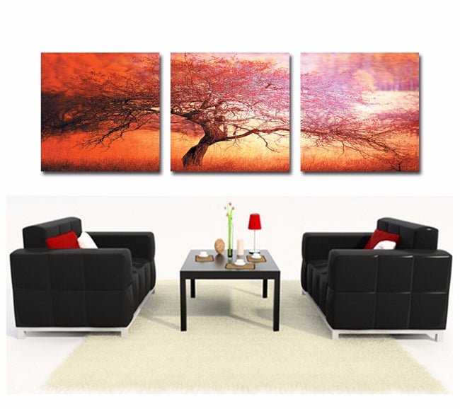 canvas painting scenic tree canvas