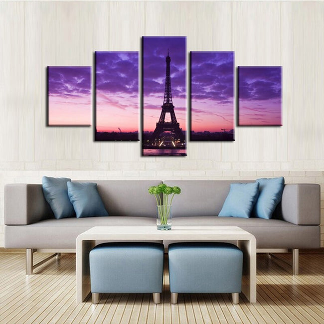 Scenic Tower Series Canvas Painting