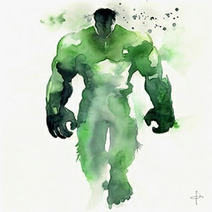 Watercolor Superhero Avenger Poster
