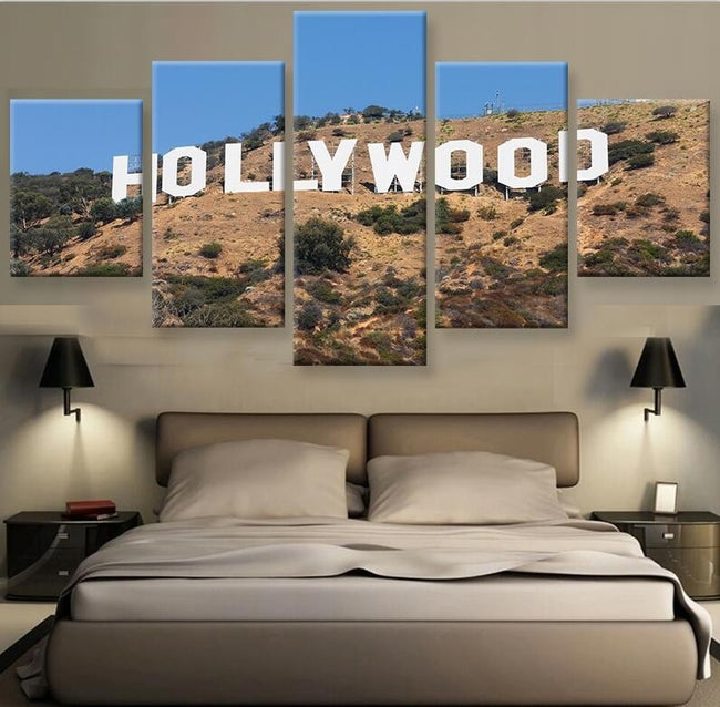 5 piece Canvas Painting Hollywood