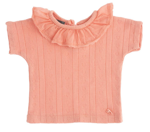 TOCOTO VINTAGE POINTELLE T-SHIRT PINK