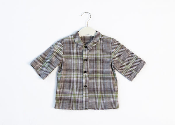 YOU & ME PLAID LINEN SHIRT
