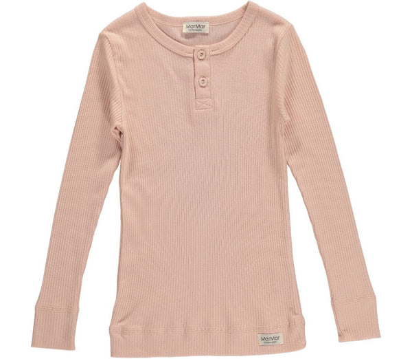 MARMAR RIBBED T-SHIRT PINK - BABY ELAINE