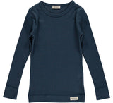 MARMAR RIBBED TEE NAVY