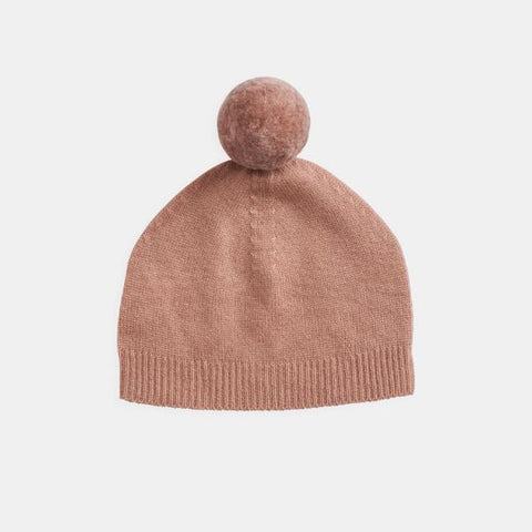 Belle Enfant Pompom Hat Peach