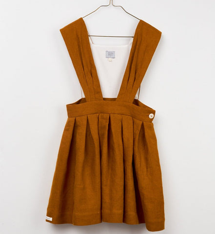 HILDA HENRI PINAFORE DRESS GOLDEN