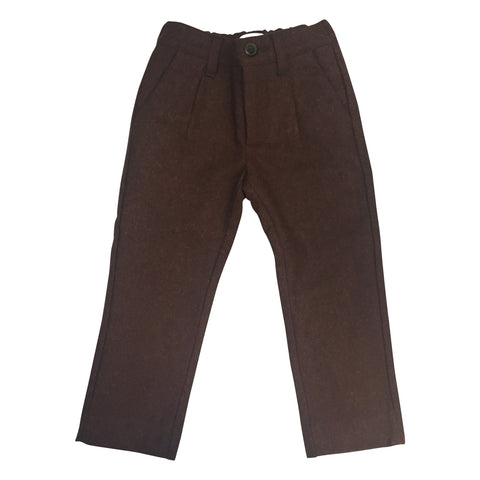 LIHO ASTON PANTS BROWN WOOL