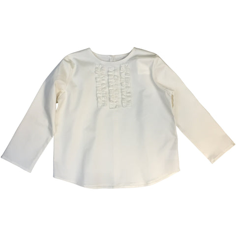 La Bottega shirt with frills cotton white