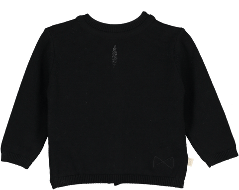 Mini Siblings Knit Sweater Black Reversible