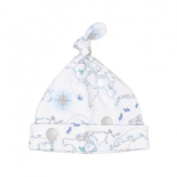 LIVLY BLUE WORLD MAP TOSSIE HAT - BABY ELAINE