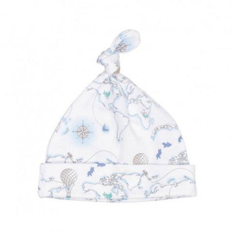 LIVLY BLUE WORLD MAP TOSSIE HAT