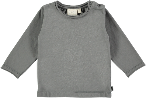 MINI SIBLING Top Charcoal
