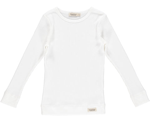 MARMAR RIBBED T-SHIRT WHITE