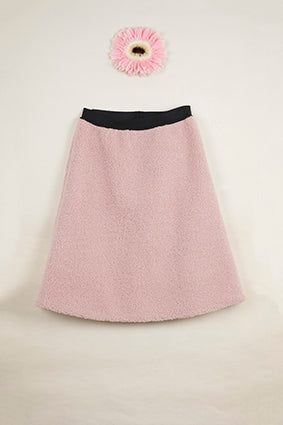 POPELIN Pink midi-length skirt