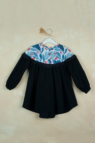 POPELIN Black Yolk Dress