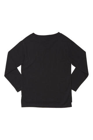 POPUPSHOP Basic Roll Up LS Tee Black