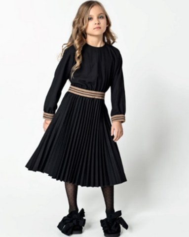UNLABEL ARC DRESS BLACK