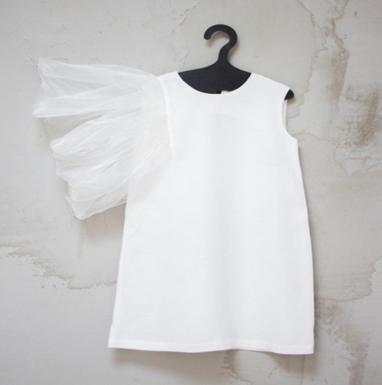 MANOKO LINEN TULLE DRESS