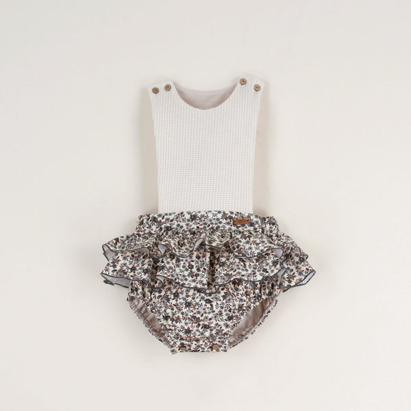 Popelin Light Blue romper suit